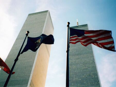 World Trade Centre and American Flag