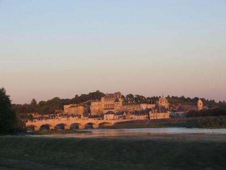 Amboise Chateau at dusk photo