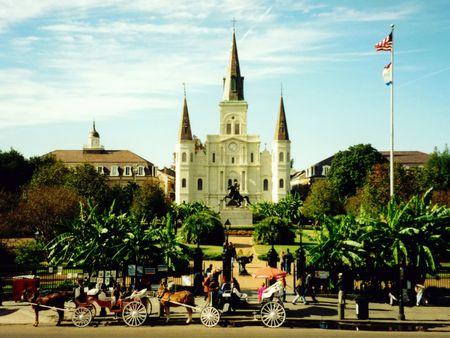 quarter horse: Jackson Square, New Orleans