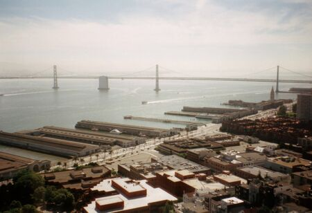 Oakland Bridge from Coit Tower photo