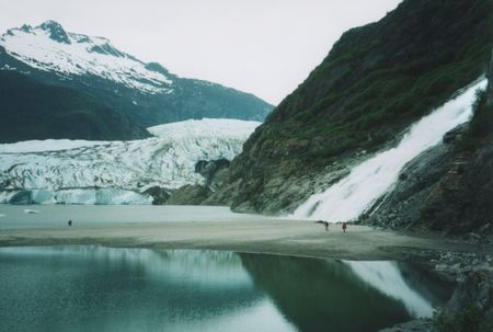 Mendenhall Glacier near Juneau Alaska photo