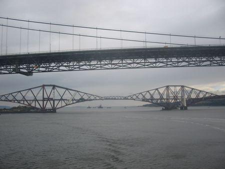 forth: Forth Rail and Road Bridges, Scotland Stock Photo