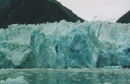 주노 알래스카 근처 트레이시 팔 피요르드 빙하