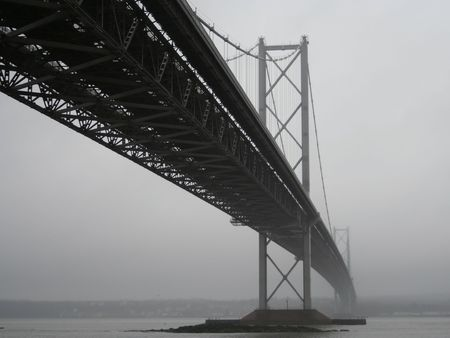 forth: Forth Road Bridge, Edinburgh, Scotland Stock Photo