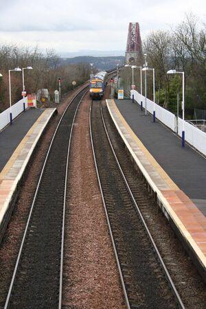 forth: Train and the Forth rail Bridge, Scotland