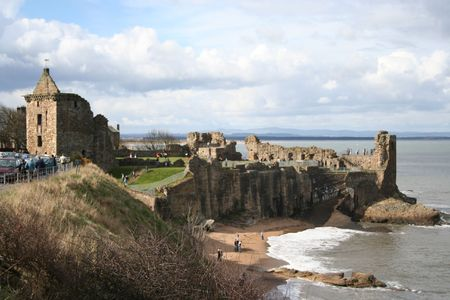 fife: St Andrews castle, Fife, Scotland Stock Photo