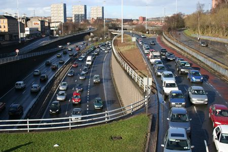 Urban Motorway at rush hour