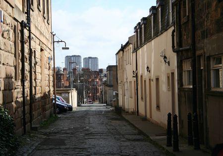 multi storey: Glasgow street scene, Scotland Stock Photo