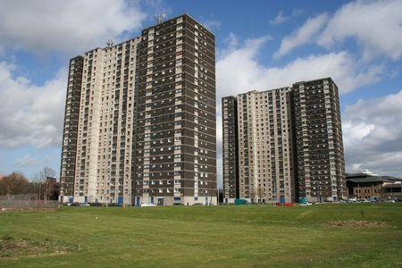 Tower blocks, Glasgow, Scotland Stock Photo
