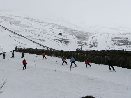 skiers: Skiers and snowboarders in Scotland