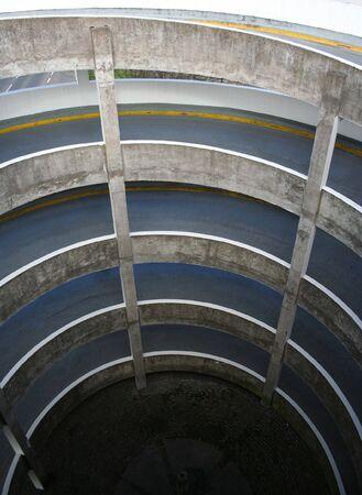multi storey: Spiral ramp of a multi storey car park