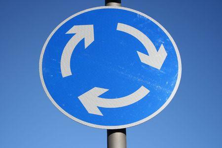 Roundabout sign photo