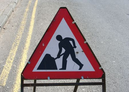 roadworks: British roadworks sign