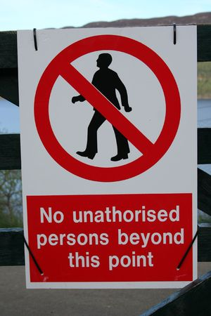 unauthorized: No unauthorized persons sign