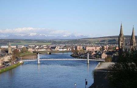 ness river: Inverness in the spring Stock Photo