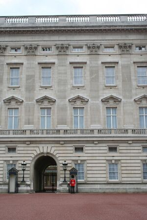 beefeater: guards outside Buckingham Palace,London Stock Photo
