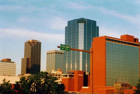 Little Rock Skyline, Arkansas Stock Photo