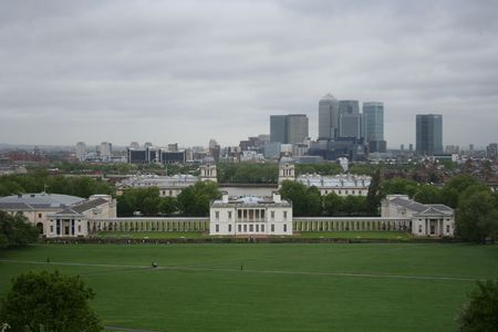 greenwich: View from Greenwich park, London