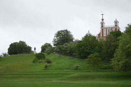 greenwich: Royal Observatory and Greenwich park Stock Photo