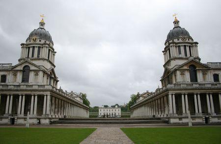 colonade: Royal naval college, Greenwich, London