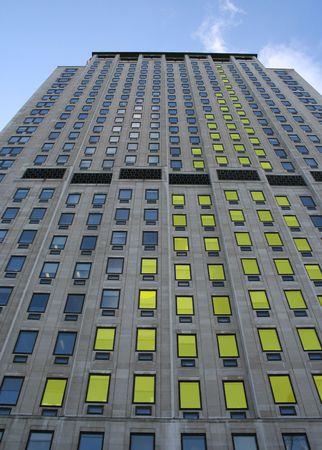 Yellow Skyscraper bar chart graph photo
