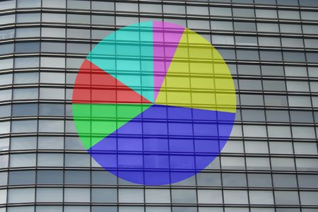 office windows pie chart photo