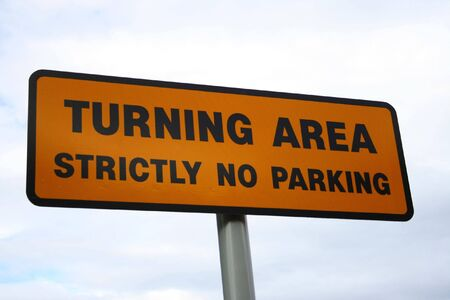 Turning area sign