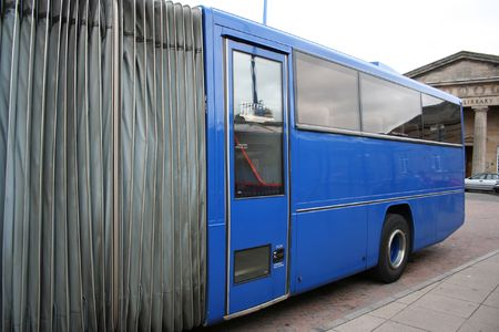 rear end: rear end of long bus