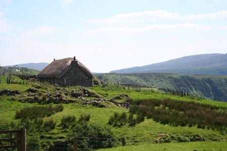 thatch: Thatch cottage, Isle of Skye, Scotland