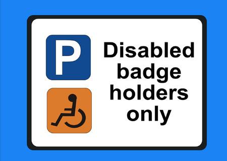 Disabled badge holders only illustration Illustration