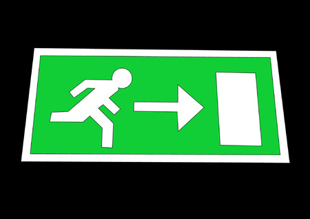 Emergency exit sign illustration Stock Vector - 444869
