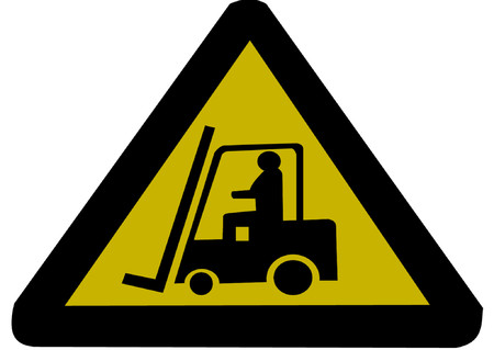 lift trucks: Forklift truck sign illustration Illustration