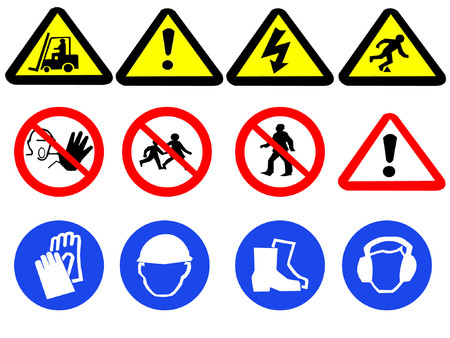 Construction hazard signs Stock Vector - 452122