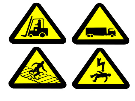 electrocution: Industrial hazard signs