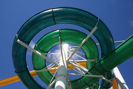 colorful spiral of water slide Stock Photo