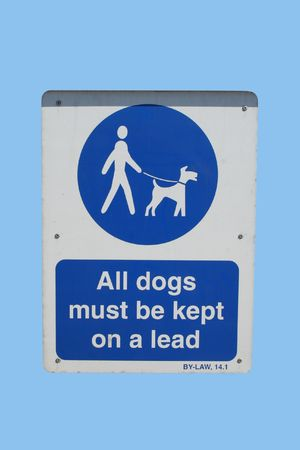 must: All dogs must be kept on a lead sign