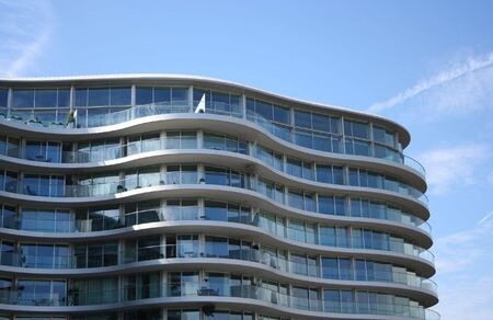 balconies: Curved apartment building