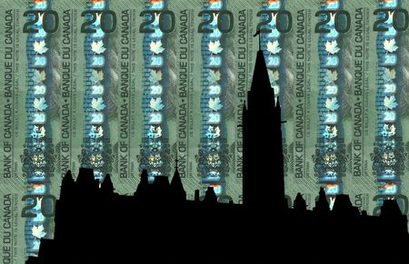 Canadian Parliament against 20 dollar note photo