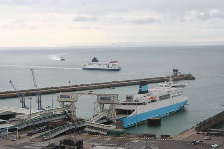 ferry Dover harbour kent England photo
