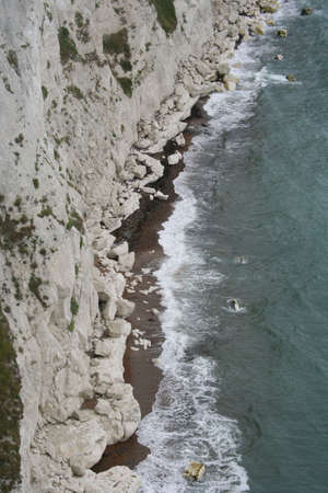 dover: waves breaking on white cliffs dover England