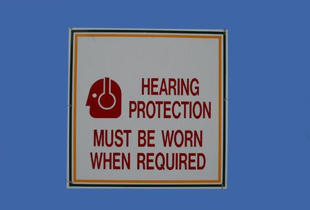 must: hearing protection must be worn sign