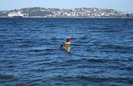 puget: kayak in puget sound