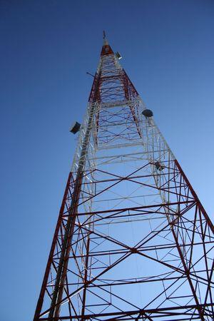 transmitter: transmitter tower Stock Photo
