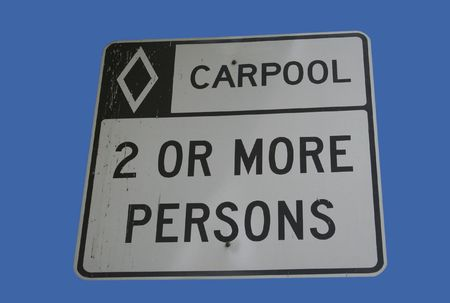 occupancy: carpool vehicles only sign two or more persons