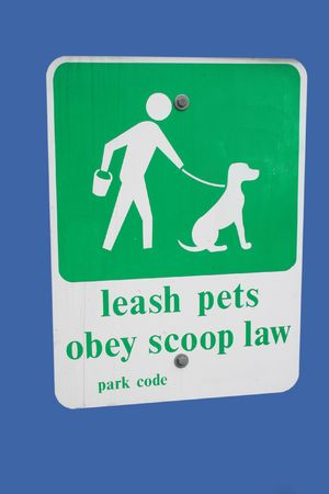 to obey: Leash pets obey scoop law sign