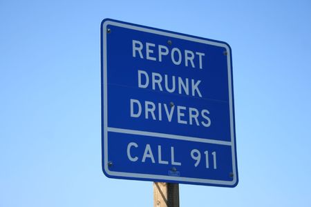 report drunk drivers sign photo