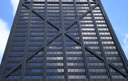 john hancock: John hancock center detail background showing its unusual exterior design