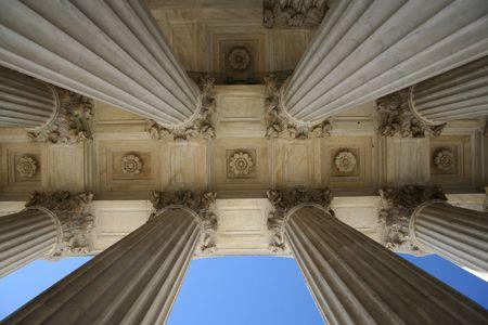 marble columns at Supreme court Washington DC