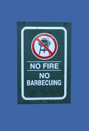 no fires: no fires or barbeque sign Stock Photo