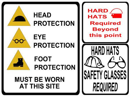 se�ales de seguridad: construcci�n de la se�alizaci�n de seguridad  Vectores